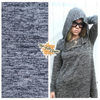 Black Space Dyed Hacci Sweater Knit