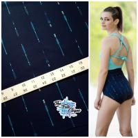 Arrows on Navy Swim/Athletic Nylon Spandex