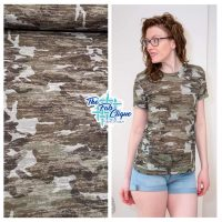 Warrior Camo Burn Out on Poly Cotton Jersey