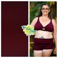 Solid Burgundy Fast Dry Athletic or Swim Knit