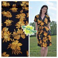 Lulu's Gold Big Floral Print on Black ITY