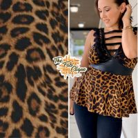 Wild Thang / Leopard Print on Baby French Terry