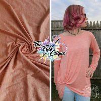 Coral Peach Multi Fleck Modal Slub Jersey