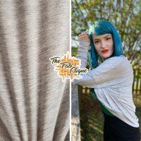 Heather Grey Multi Fleck Modal Slub Jersey
