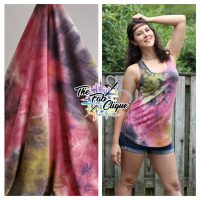 Grape Sour Patch Real Tie Dye on Multi color Hacci Sweater Knit