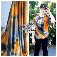 Pumpkin Spice Real Tie Dye on Double Brushed Poly
