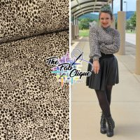 Misguided Cheetah on Stone Pointelle Rib Knit