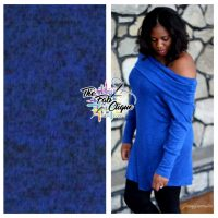 Royal Blue/Black Two Tone Lightweight Hacci Sweater Knit