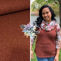 Solid Rust (Two tone) 4x8 Ribbed Sweater Knit