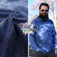 Blueberry Soda on Real Tie Dye Brushed Waffle Knit