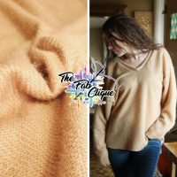 Taupe on Fuzzy Hacci Sweater Knit