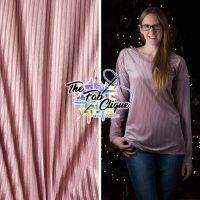 Pink Vertical Shadow Velvet Stripes