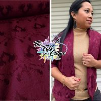 Emily Lace Embossed on Wine Knit Jacquard