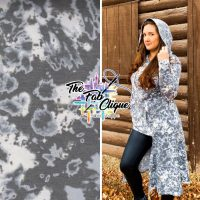 Charcoal Blots Acid-wash Print on Baby French Terry