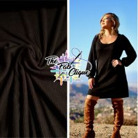 Black Cashmere Style 2x2 Waffle/Thermal Knit