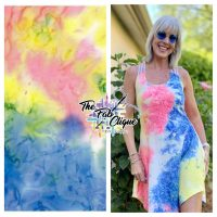 Neon Classic Real Tie Dye on Double Brushed Poly (Multi Color)