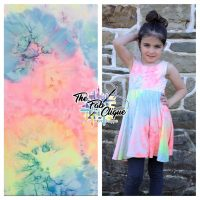 Pink and Blue Real Tie Dye on Double Brushed Poly (Multi Color)