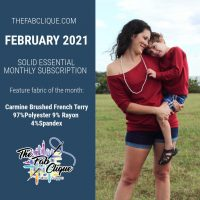 Carmine Brushed French Terry : Feb 2021 Solid Essentials