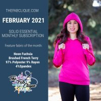 Neon Fuchsia Brushed French Terry : Feb 2021 Solid Essentials