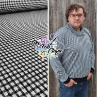Checks on Black Yarn Dyed Double Knit Jacquard