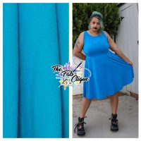Solid Turquoise Cotton Lycra 10oz