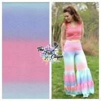 Ombre Stripes Retro Pink/Blue on French Terry