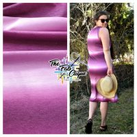 Wine Ombre Stripes on French Terry Custom Printed in the USA *very slight imperfection*