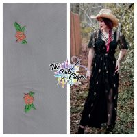 Dainty Embroidered Floral on Stretch Mesh