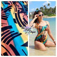 "80""s Pop on Multi Color Swim/Athletic Nylon Spandex"