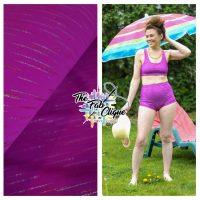 Glitz on Magenta Swim/Athletic Nylon Spandex