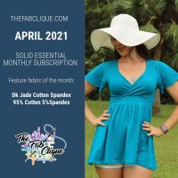 Solid DK Jade Cotton Lycra 10oz - April 2021 Solid Essentials