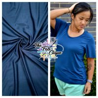 Solid Deep Teal Bamboo Spandex 220gsm