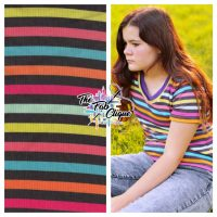 Candy Striped Ribbed Knit
