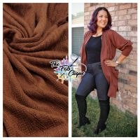 Solid Brown Sweater Cable Knit Style