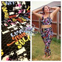 Love Yourself Graffiti PrintHoneycomb Athletic Knit (260 gsm)