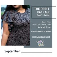 Print Package SEPT: Animal Print Burn Out French Terry